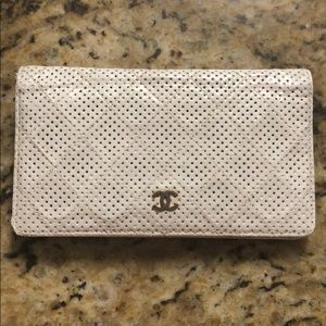Chanel Perforated Quilted Wallet